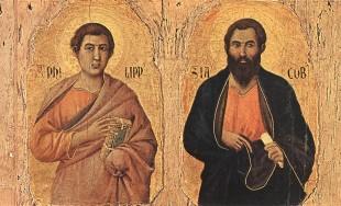 El 3 de mayo celebramos juntos a estos dos apóstoles de Jesús porque en torno al siglo VI sus restos fueron llevados a Roma. Ambos pertenecieron al grupo de los doce Apóstoles,…