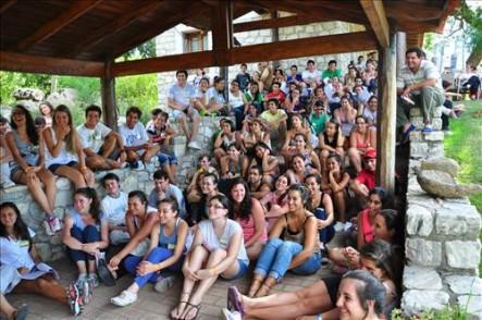 Jóvenes venidos de todo el país participaron de la Acampada