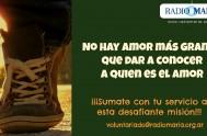 """En Radio María Argentina """"callejeamos la fe"""" los 365 días del año buscando anunciar la Buena Noticia, alentando a los cansados, consolando a…"""