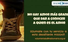 """En Radio María Argentina """"callejeamos la fe"""" los 365 días del año buscando anunciar la Buena Noticia,…"""
