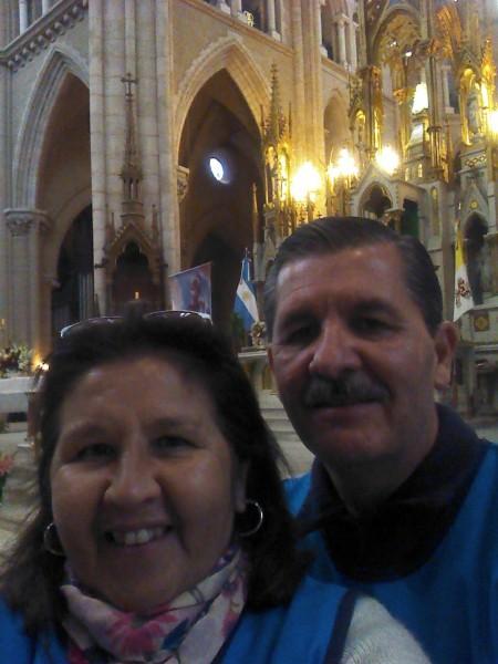 Liz y su esposo Miguel