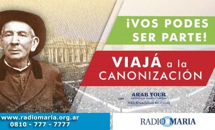 """Camino a los 20 años de Radio María Argentina queremos celebrarlo premiando tu entrega y solidaridad. Participando del concurso """"Viajá a Roma con Brochero"""" tendrás la posibilidad de ganar UN VIAJE con…"""