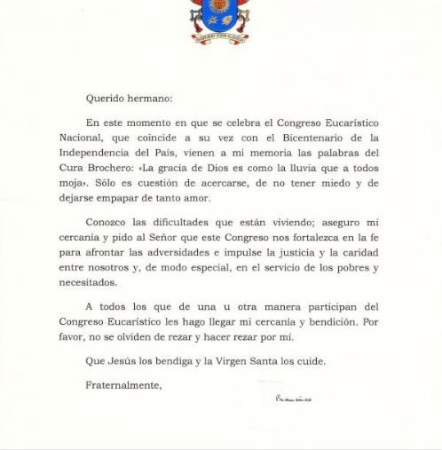 Saludo Francisco CEN