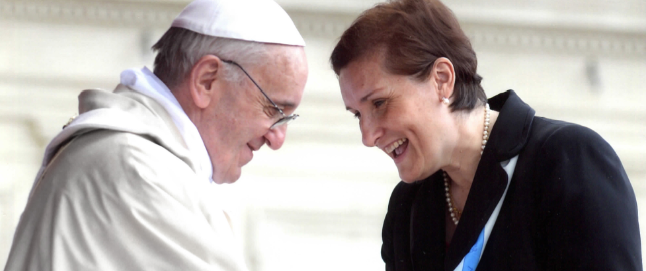 Papa Francisco y Dra. Silvia Correale