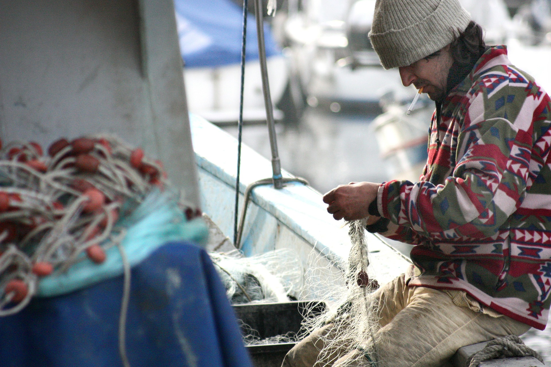 pescar redes