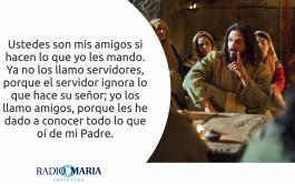 14/05/2019 -. Catequesis en un minuto Fiesta San Matías, apóstol Jesús dijo a sus discípulos: «Como el Padre me amó,…