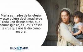 10/06/2019 – Celebramos la memoria de María, Madre de la Iglesia: ella, junto a los apóstoles recibe el don del…