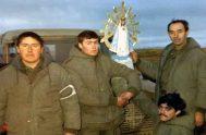 17/09/2019 -Una imagen de la Virgen de Luján que había sido llevada a las Islas Malvinas durante la guerra de 1982 -y de…