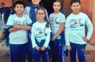 """19/10/2019 – Sofía e Isabella Novara, Benjamín Cuello y Tomás Oliva son integrantes del espacio radial """"Mateandito"""", el cual forma parte del programa…"""