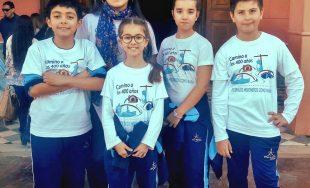"""19/09/2019 – Sofía e Isabella Novara, Benjamín Cuello y Tomás Oliva son integrantes del espacio radial """"Mateandito"""",…"""