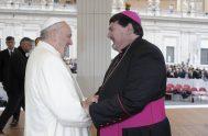 """01/09/2019 – Monseñor José Macín, obispo de Reconquista y presidente de la Comisión Episcopal de Pastoral Aborigen, indicó que """"hace más de un…"""
