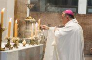 """07/04/2020 – El arzobispo de Mendoza, monseñor Marcelo Colombo, destacó que en su provincia están trabajando """"en conjunto con el Ministerio de Salud…"""