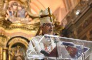 25/05/2020 -El arzobispo de Buenos Aires, cardenal Mario Aurelio Poli, presidió el Tedeumpor el 25 de Mayo en la catedral metropolitana, donde llamó…