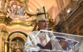 25/05/2020 –El arzobispo de Buenos Aires, cardenal Mario Aurelio Poli, presidió el Tedeumpor el 25 de Mayo en la catedral…
