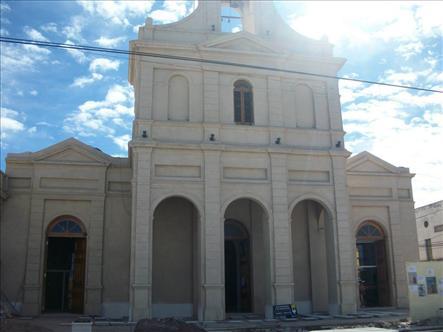 El frente del templo donde el Cura Brochero fue párroco.