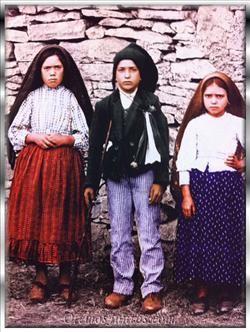 Los pastorcitos de Fatima: Jacinta, Francisco y Lucía