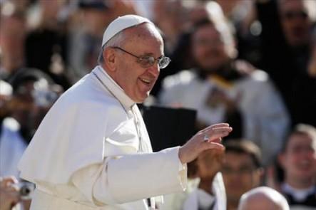 La sonrisa del Papa Francisco.