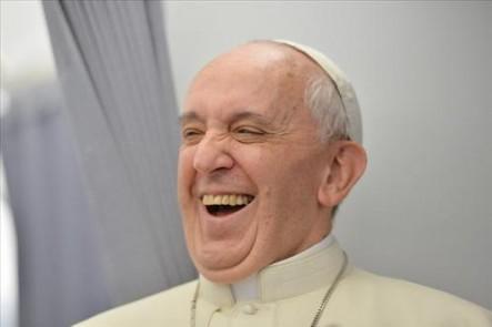 Francisco evidentemente es un Papa alegre.