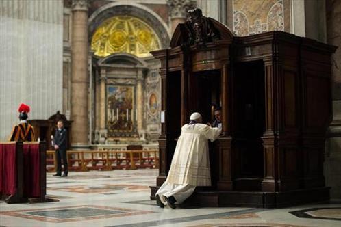 El Papa confes