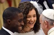 """18/09/2014 – """"La valentía de reconocernos pecadores nos abre a la caricia de Jesús, a su perdón"""", expresó el Papa Francisco en la…"""