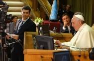 """05/09/2014 – """"El Evangelio es novedad, Jesús nos pide que dejemos a un lado las estructuras caducas"""", afirmó el Papa Francisco en la…"""