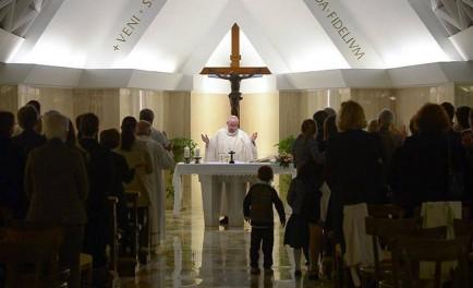 """23/01//2015 – En la homilía matutina de Santa Marta, el Papa Francisco recordó que """"la…"""