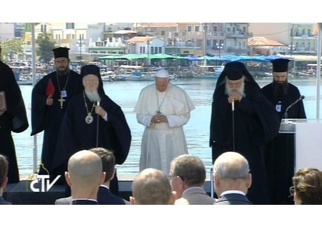 Oración del PAPA en Lesbos
