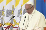 24/06/2016 –Papa Francisco comenzó su discurso ante las Autoridades Políticas, la Sociedad Civil y el Cuerpo Diplomático de Armenia en el Palacio Presidencial…