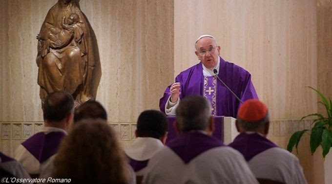 Papa Francisco misa en Santa Marta - FranciscoSantaMarta_LOsservatoreRomano190215