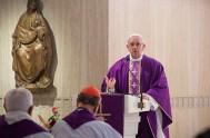 16/02/2018 – El Papa Francisco en su homilía de la misa celebrada en la Casa Santa Marta puso en guardia ante el ayuno…