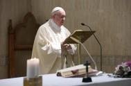 """04/05/2018 – Compartimos la homilía del Papa Franisco en donde dedicó su reflexión al tema: """"Custodiar la fe y confirmar en la fe.""""…"""