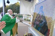 24/09/2018 – El Papa Francisco compartió la oración del Ángelus en el Parque Santakos, en Kaunas, en el marco de su 25° Viaje…