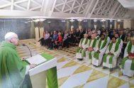 05/10/2018 – En la homilía de la misa celebrada en la casa Santa Marta, el Papa Francisco dijo quehemos nacido en una sociedad…