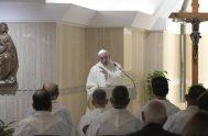 09/11/2018 –Durante la Misa matutina celebrada en la Casa Santa Marrta y partiendo del Evangelio de San Juan, propuesto por la liturgia del…