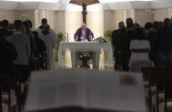 20/12/2018 – En su homilía de la Misa matutina celebrada en la capilla de la Casa de Santa Marta, el Papa Francisco se…