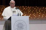04/02/2019 -El Papa Francisco pronunció un importante discurso en el Encuentro Interreligioso celebrado este lunes 4 de febrero en Abu Dhabi, Emiratos Árabes…