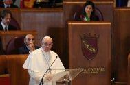 26/03/2019 – El Papa Francisco visitó la sede del Ayuntamiento de Roma, conocido como el Campidoglio Se trató de la primera vez que…