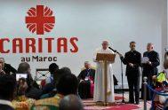 30/03/2019 – En el marco de su viaje apostólico a Marruecos, el Papa Francisco se reunió con un grupo de migrantes en la…