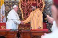 30/03/2019 – Durante la visita al palacio real, el Papa Francisco y el rey de Marruecos. Mohamed VI, firmaron una importante declaración sobre…