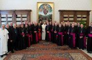 17/05/2019 – En lo que fue eltercer encuentro de la visitaad líminaal Papa francisco por parte de los obispos argentinos, el Santo Padre…