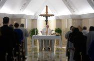"""28/05/2019 – """"La tristeza no es una actitud cristiana"""". Así lo dijo hoy el Papa Francisco en su homilía celebrada en Casa Santa…"""