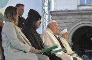 06/05/2019 – En laPlaza Nezavisimost de la ciudad búlgara de Sofía, el Papa Francisco ha presidido una oración por la paz junto con…