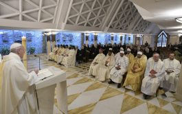 10/05/2019 – Durante la Misa celebrada este viernes 10 de mayo en la Casa Santa Marta, el Papa Francisco…