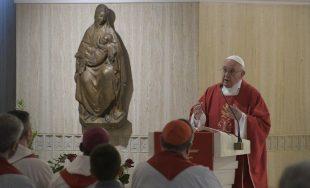 """11/06/2019 –Durante la Misa celebrada hoy en la Casa Santa Marta, el Papa Francisco recordó que """"la…"""