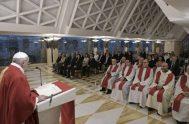 """20/09/2019 –El Papa Francisco pidió nuevamente que los obispos sean cercanos a """"Dios con la oración, a sus sacerdotes y al pueblo de…"""