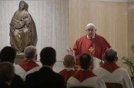 12/11/2019 –En su homilía de la Misa celebrada en la Casa Santa Marta de este 12 de noviembre, el Papa Francisco señaló que…