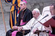 11/12/2019 –El Papa Francisco invitó a los cristianos a interpretar el sufrimiento con los ojos de la fe en Cristo, al igual que…