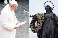 04/12/2019 –El Papa Francisco irá el próximo domingo, Solemnidad de la Inmaculada Concepción de la Virgen, para rendir homenaje a la estatua de…