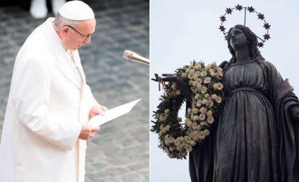 04/12/2019 –El Papa Francisco irá el próximo domingo, Solemnidad de la Inmaculada Concepción de la Virgen, para rendir homenaje a la estatua de la Virgen María en la Piazza Mignanelli, junto a…