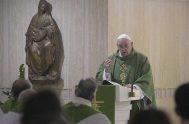 14/01/2020 –En su homilía de la Misa celebrada en la Casa Santa Marta de este 14 de enero, el Papa Francisco lamentó la…
